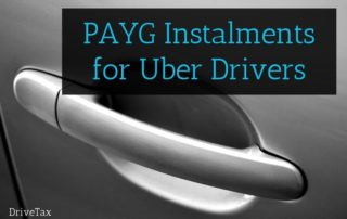 PAYG Instalments for Uber Drivers