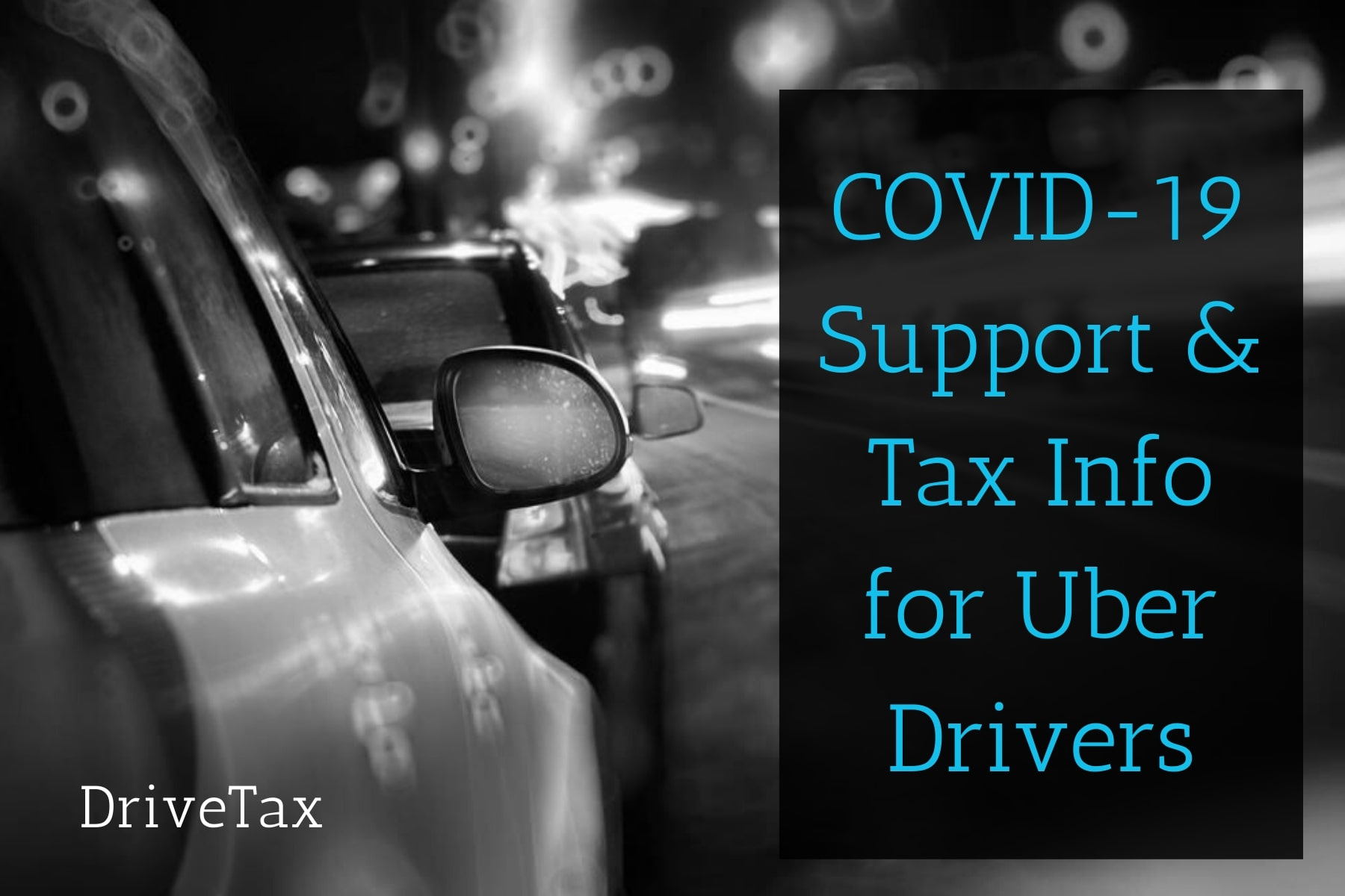 Uber & Rideshare COVID-19 & Coronavirus Welfare Support & Tax Breaks