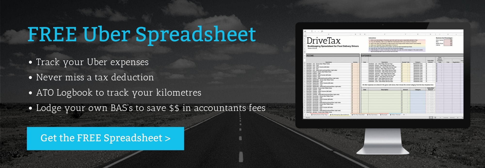 Uber Bookkeeping Spreadsheet