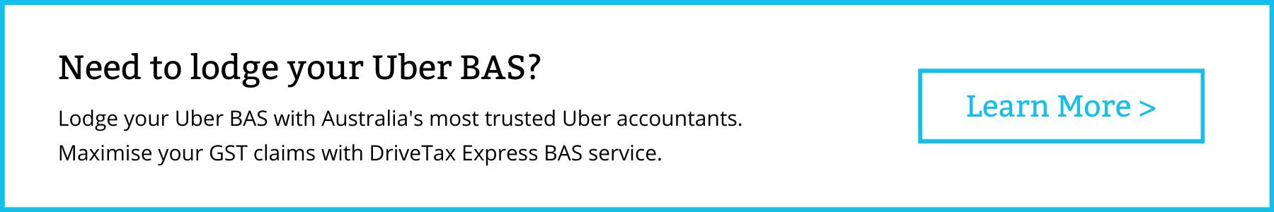 DriveTax Uber BAS Lodgment